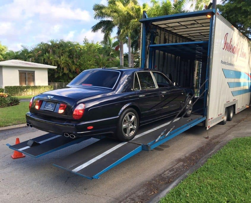 shipping a bentley